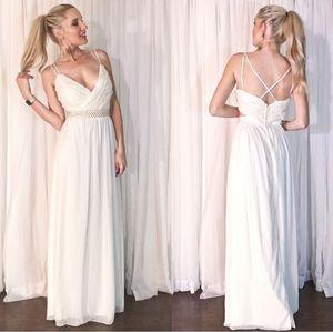 Speechless Lace Chiffon Beaded Prom Dress